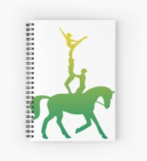 Green and Gold Vaulting Team Spiral Notebook