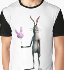 Rabbit & Balloon Graphic T-Shirt