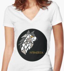 Direwolf - Nymeria Women's Fitted V-Neck T-Shirt