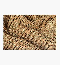 Knitted texture. Background. Photographic Print