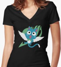 Happy Fairy Tail Women's Fitted V-Neck T-Shirt