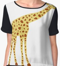 cute giraffe,vector illustration Chiffon Top