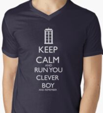 run you clever boy Men's V-Neck T-Shirt