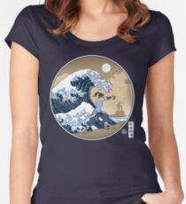 Avatar Waterbender Great Wave Women's Fitted Scoop T-Shirt