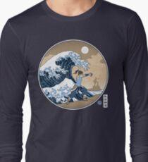 Avatar Waterbender Great Wave Long Sleeve T-Shirt
