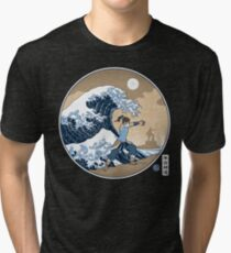 Avatar Waterbender Great Wave Tri-blend T-Shirt