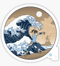 Avatar Waterbender Great Wave Sticker