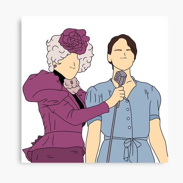 Effie Trinket and Katniss Everdeen from The Hunger Games Canvas Print