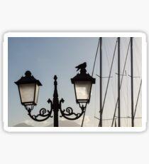 Dove Perch - Quaint Cast Iron Harbor Lights and Boat Masts Sticker