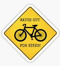 Watch Out For Bikes!! - Sticker Sticker