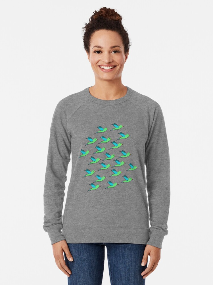 Alternate view of Cute Birds Lightweight Sweatshirt