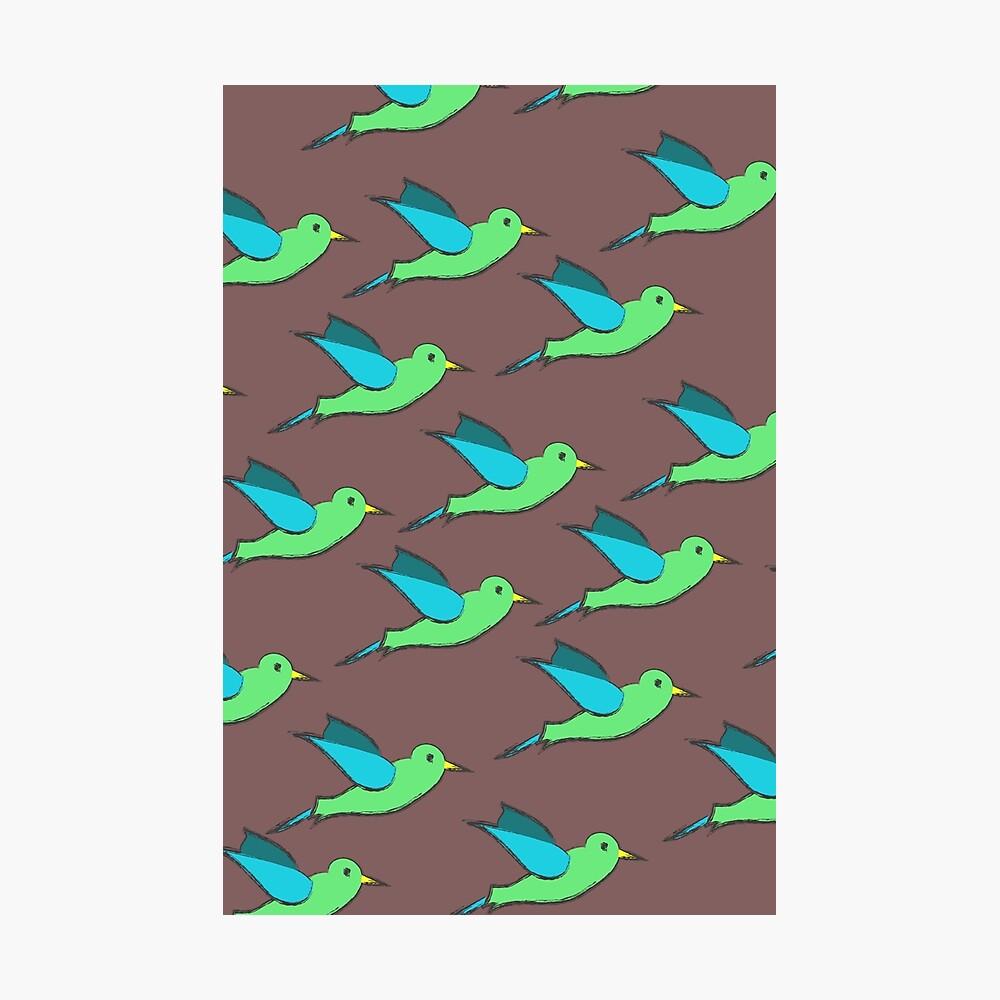 Cute Birds Photographic Print
