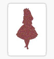 Glitter party Alice Sticker