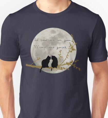 Ich liebe dich bis zum Mond und zurück  T-Shirt