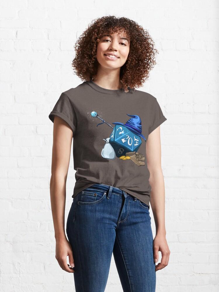 Alternate view of D20 Wizard Classic T-Shirt