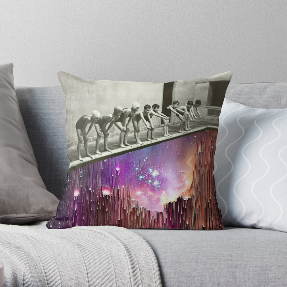 Skydiving II Throw Pillow