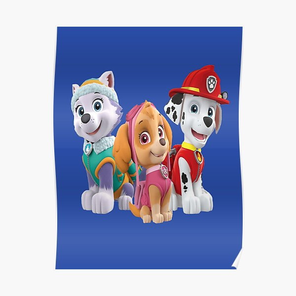 Paw Patrol Characters Póster