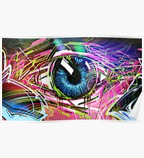Pure Graffiti Eye Poster