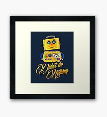 Didn't do nothing - funny toy robot Framed Print