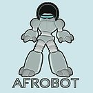 Afrobot- robot with afro by NirPerel