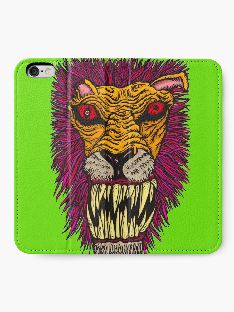 Alternate view of Monster Mondays #2 - Lionel Lion - Anger Monster! iPhone Wallet