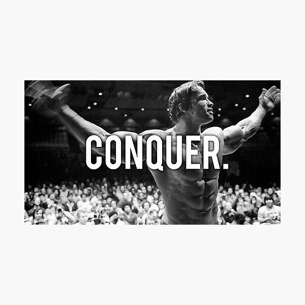 CONQUER (Arnold Poster) Photographic Print