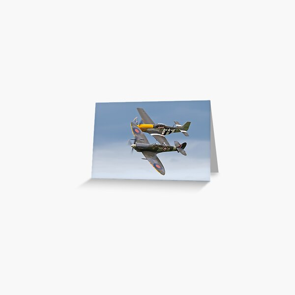 Spitfire and P-51 Mustang Greeting Card