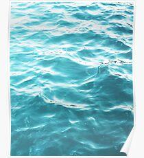 Landscape Blue water Poster