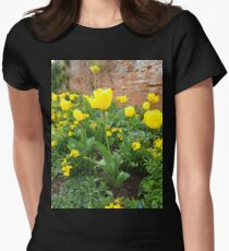 Yellow Tulips Women's Fitted T-Shirt