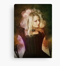 Computer generated Old portrait painting of a woman wearing Gothic style clothes Canvas Print