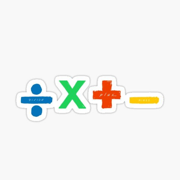 ed sheeran divide plus menos mas + - X %  música HD 4K matemáticas  Pegatina