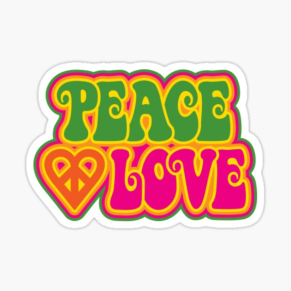 Peace and Love Sticker