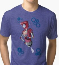 Robot Flash Tri-blend T-Shirt