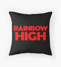 Rainbow High Throw Pillow