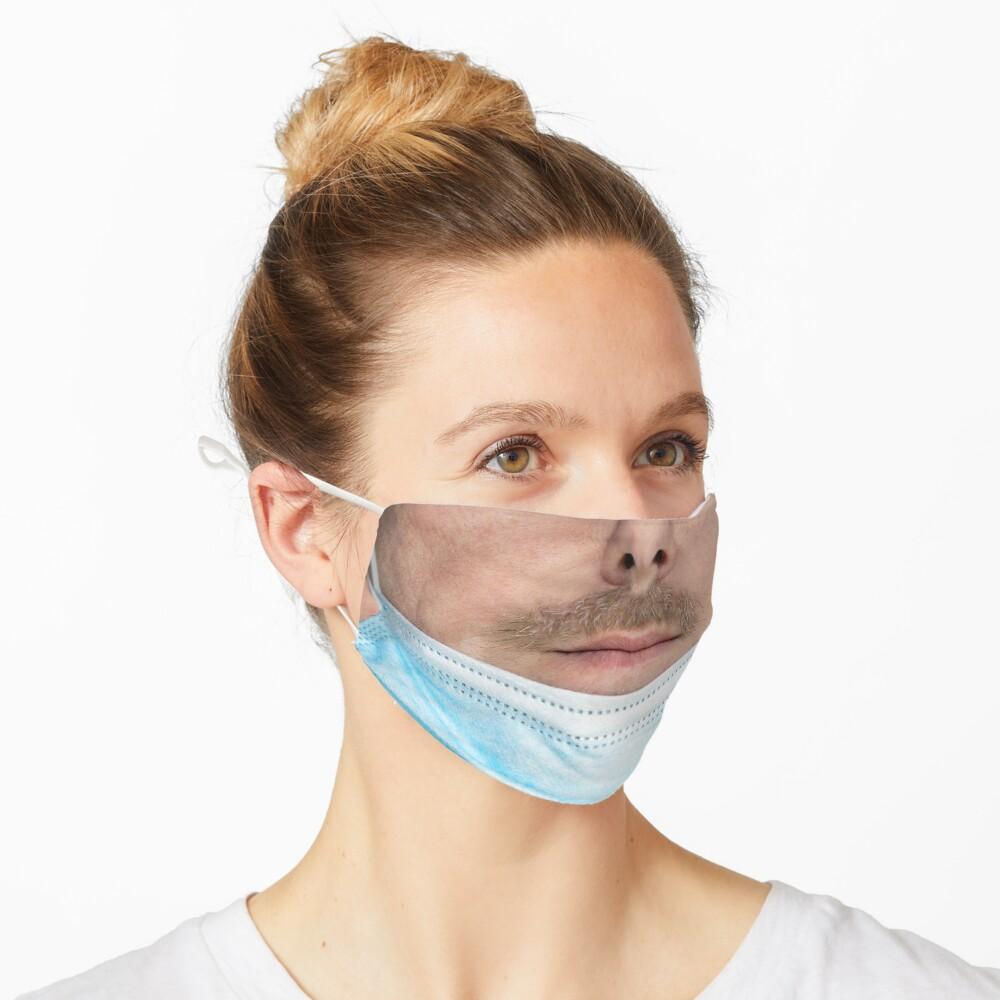 A badly worn medical mask - Man Mask