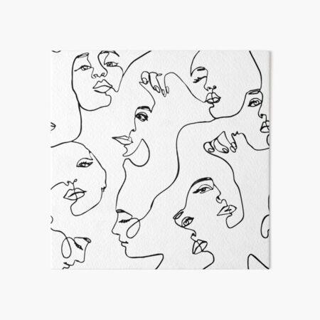 One Line Art  Art Board Print