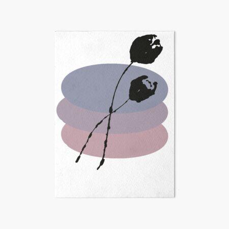 Pastel and Black Ink Tulip Art Board Print