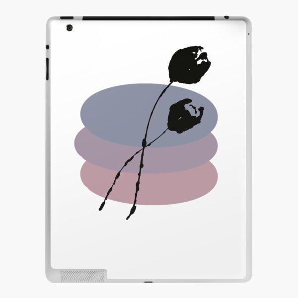 Pastel and Black Ink Tulip iPad Skin