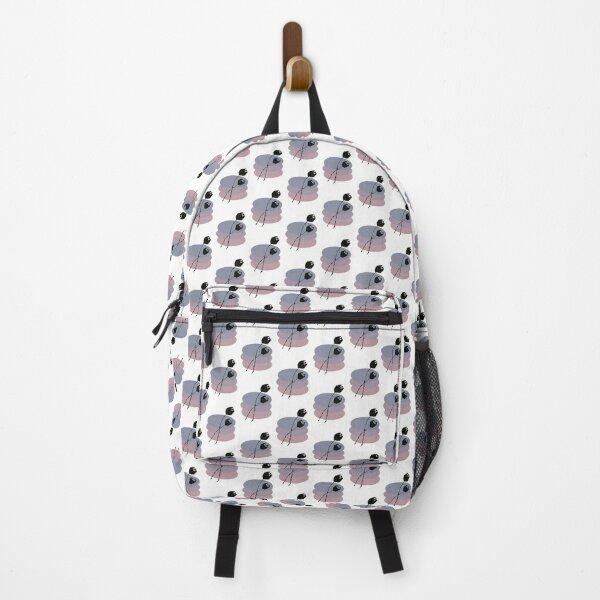 Pastel and Black Ink Tulip Backpack