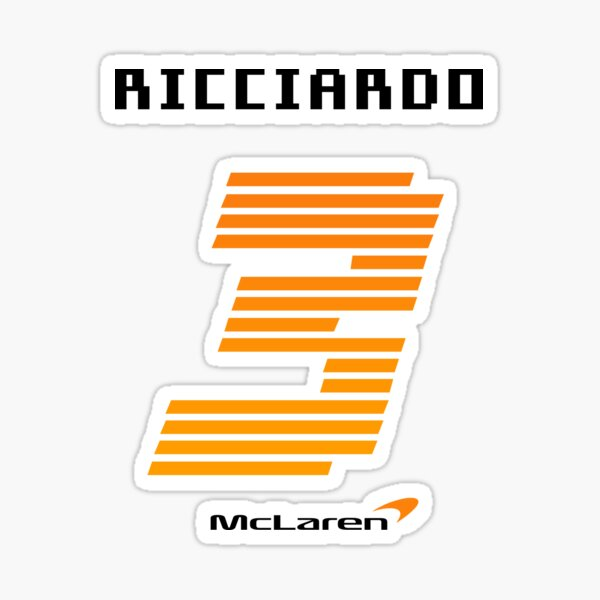 Daniel Ricciardo Mclaren Back Maillot numéro 2021 Formule 1 Sticker