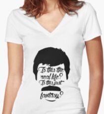 Bohemian Rhapsody Women's Fitted V-Neck T-Shirt