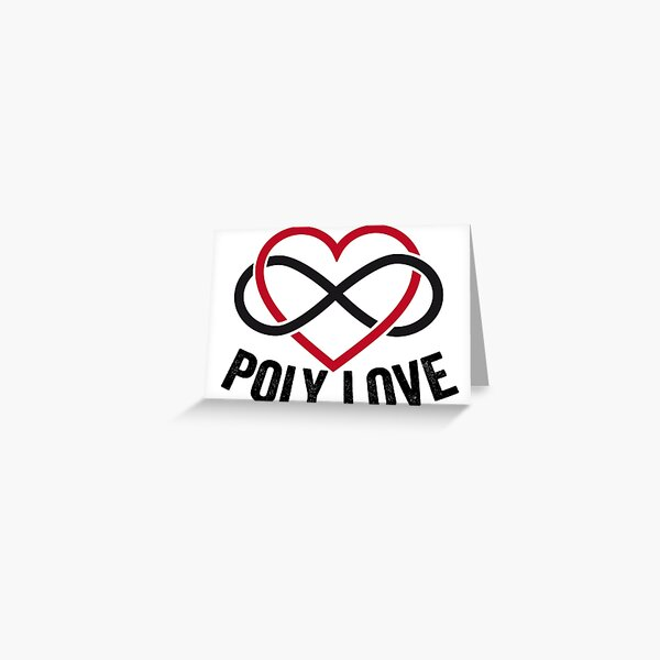 Poly Love Greeting Card