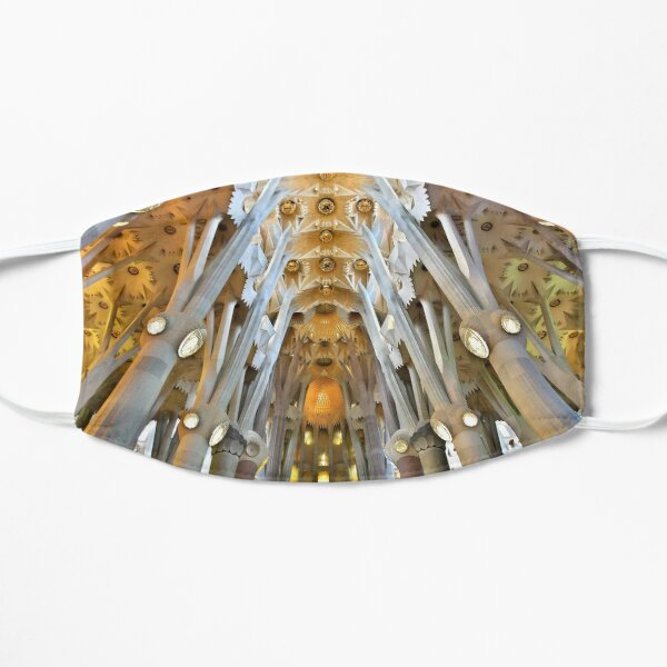 Inside the Sagrada Familia - Barcelona Flat Mask