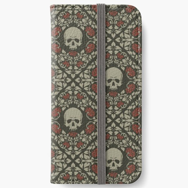 Skulls and roses iPhone Wallet