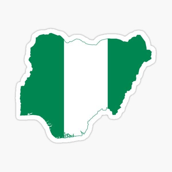 Flag Map of Nigeria  Sticker
