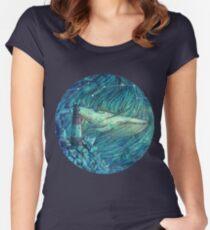 Moonlit Sea Women's Fitted Scoop T-Shirt