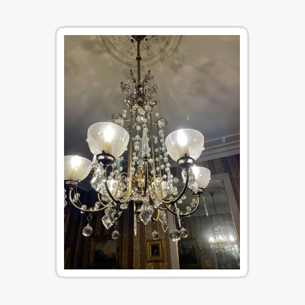 Gibson House Museum Music Room Chandelier  Sticker