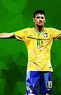 Low poly Neymar by Mark White