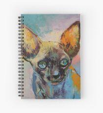 Sphynx Katzenporträt Spiralblock