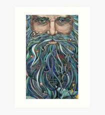 Old man Ocean Art Print